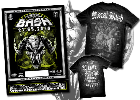 Metal bash 2016, Ticket, Bonus-Shirt