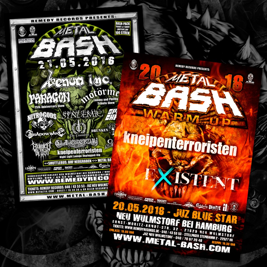 Metal Bash Festival, Flyer, Heavy Metal