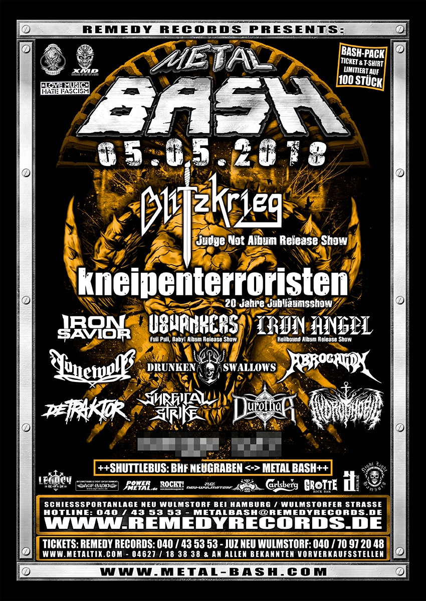 Metal Bash 2018, Poster, Heavy Metal Festival