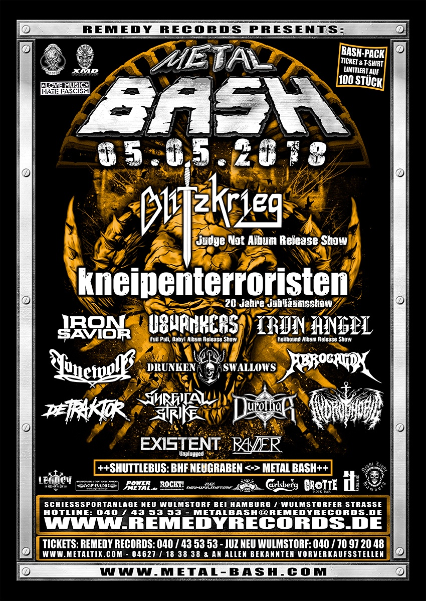 Metal Bash 2018, Flyer