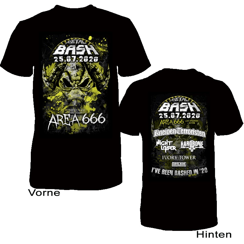Metal Bash, Area666, Live Stream Edition, T-Shirt